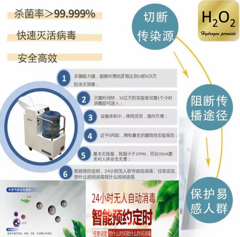 过氧化氢消毒机,过氧化氢雾化消毒机