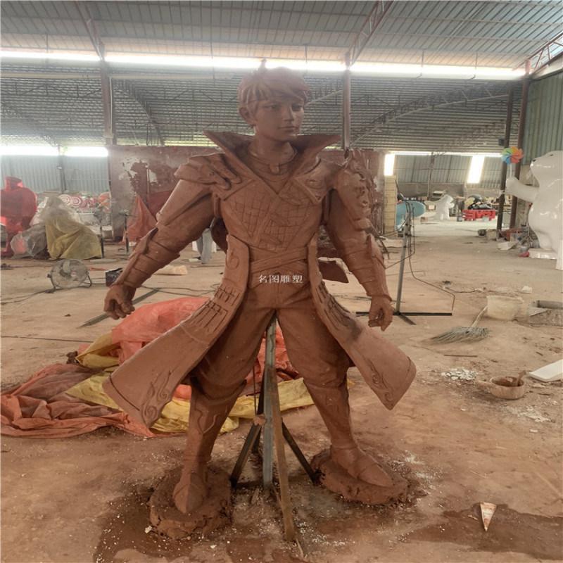 里水玻璃钢校园人物雕塑 学校名人雕像