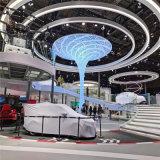 机场造型外墙扭曲铝单板 中庭立柱圆弧弯曲铝单板
