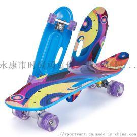 廠家直銷初學兒童塑料滑單翹四輪魚板