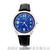 XJK-1805C不鏽鋼殼真皮錶帶男裝石英手錶