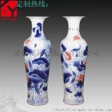 景德镇松鹤牡丹大花瓶 1.8米花瓶