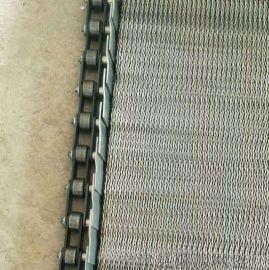 不锈钢螺钉输送人字网带 小甜饼人字形网带