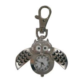 时霸钟表厂家定制促销礼品金属壳卡通动物钥匙扣挂表