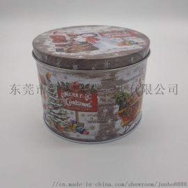 马口铁圣诞礼品盒 批发糖果礼物包装盒圣诞老人铁罐