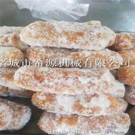 河南芋头酥油炸机裹糖裹芝麻生产线 挂糖机厂家