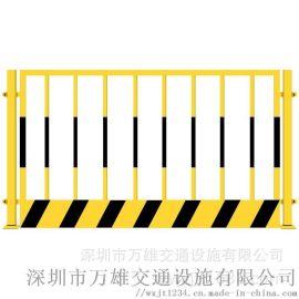铁马护栏不锈钢黄黑铁马施工铁马围栏移动隔离铁马护栏