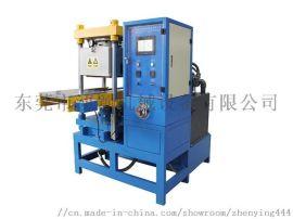 东莞厂家浈颖硅胶热转印成型机服装商标模内硫化机自动真空成型