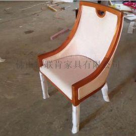 酒店餐桌椅组合实木椅餐厅会所火锅店工程定制家具现代新中式