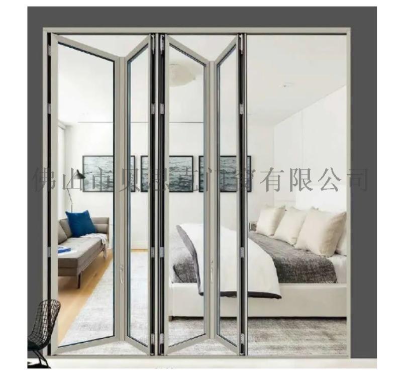 厂家直销 欧式别墅折叠门 钢化玻璃隔音铝合金折叠门