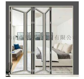 廠家直銷 歐式別墅折疊門 鋼化玻璃隔音鋁合金折疊門