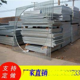 扇形环形钢格栅板/异形平台钢格板/热镀锌钢格板