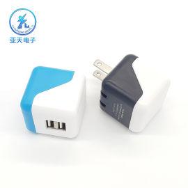 亚天电子OEM贴牌C5169 ac adapter C5169AC适配器 大筛子双USB充电器 ETL认证筛子充电器