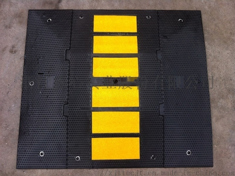 优质交通设施橡胶减速带小区公路道路减速垄缓冲斜坡垫