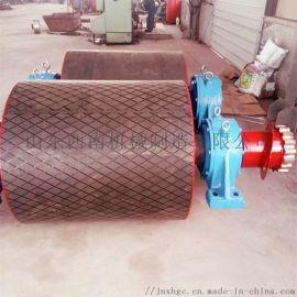 大直徑內裝式包膠皮帶機改向滾筒專業制造