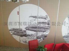 惠州 餐厅折叠门活动屏风移动隔断推拉门