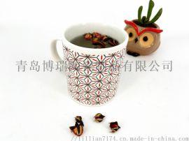 木盖陶瓷咖啡杯广告杯