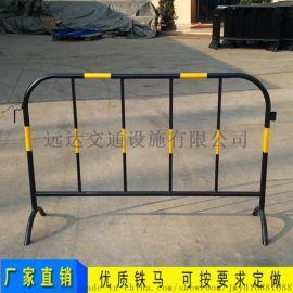 道路施工分流隔离铁马护栏 不锈钢移动围栏