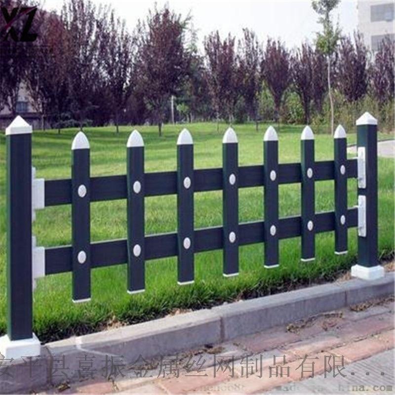 圆形草坪护栏@花坛塑钢围栏@加厚PVC草坪护栏