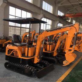 小型挖坑机 农用轮式挖掘机 都用机械双链条开沟机