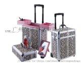 鋁合金箱定製,升級版多層大容量拉桿化妝箱