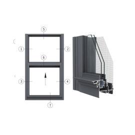 广东兴发铝材创高AL82A系列隔热单|双提拉窗