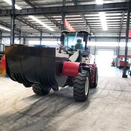 搅拌斗装载机叶片可调节 铲车安装搅拌斗双向马达