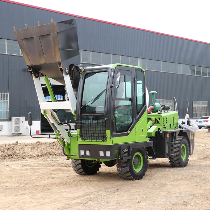 自上料混凝土攪拌車 全自動移動式多功能混泥土攪拌車