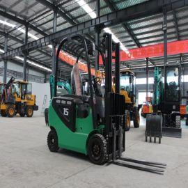 厂家销售 座驾式全电动四轮堆高车 液压升降装卸叉车