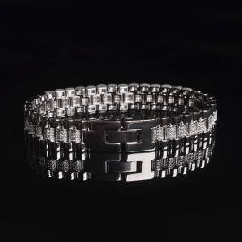 欧美流行嘻哈饰品爆款手表链12mm蜡镶表链