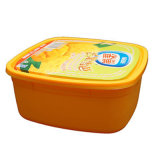 1L PP塑料模内贴包装 冰淇淋盒
