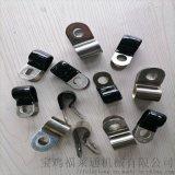 陕西厂家生产R型不锈钢套胶皮管夹 Φ22多管管夹