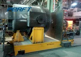 定做蓄电池轨道钢包车 车间智能转运20吨电动平车