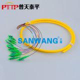 12芯(LC/APC)束状尾纤 12色光纤连接器