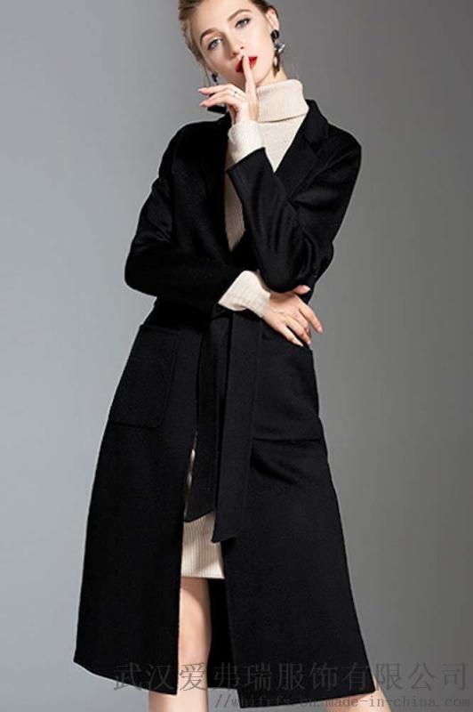 開服裝店怎麼選貨源衣香麗影加厚雙面羊絨呢大衣女