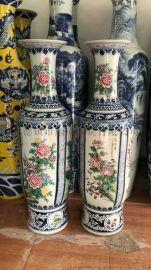 供应景德镇粉彩花鸟陶瓷大花瓶 家居摆设大花瓶收藏品
