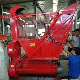 拖拉机带动的秸秆回收机,带料仓秸秆回收粉碎机