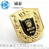 俱乐部会员胸章,镀金徽章制作,广东公司年会徽章生产