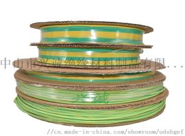 低温收缩地线标识  黄绿双色125度热缩管