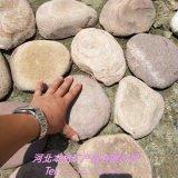 厂家直销鹅卵石切片 踏步石鹅卵石 机切面 铺地片石