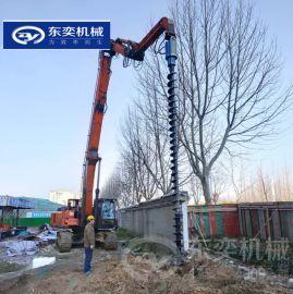 钻孔工程螺旋钻机 挖机螺旋钻挖树坑机