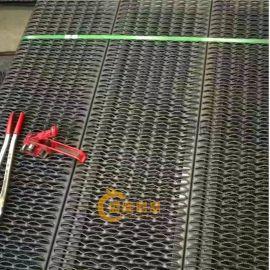 南昌钢结构平台鳄鱼嘴孔板 平台走道凹凸孔防滑板