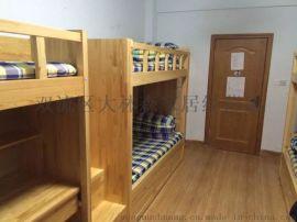 贵阳实木公寓床高低床工程定制