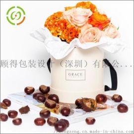 圆形花盒经典鲜花礼品盒抱抱桶永生花   花盒定制