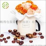 圓形花盒經典鮮花禮品盒抱抱桶永生花 高端花盒定製