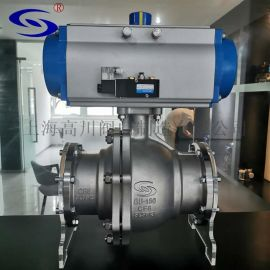 高川阀门厂家直销GUQ-150单晶炉气动高真空球阀