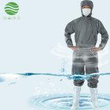 防靜電連體服灰色條紋斜紋拉鍊電子廠潔淨服