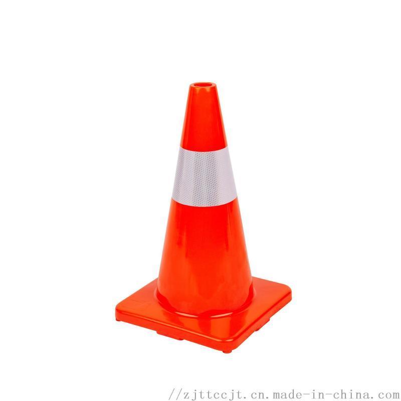 PVC反路锥提环反光圆锥路锥广告交通7全红路锥