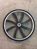 24寸免充气轮组避震轮胎避震轮毂实心胎共享单车