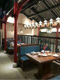 湘菜馆餐桌定做实木餐桌厂家,餐厅圆桌款式可选